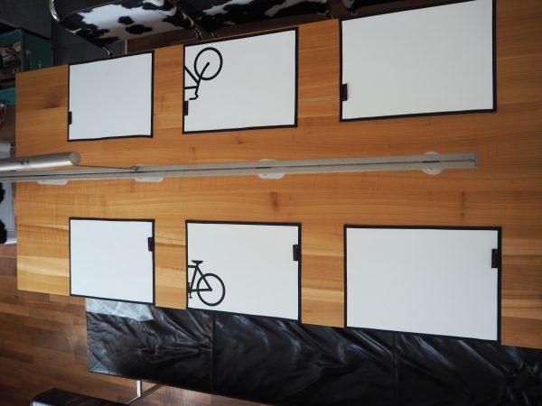 Weiße Tischsets aus LKW-Plane – 2 Stück