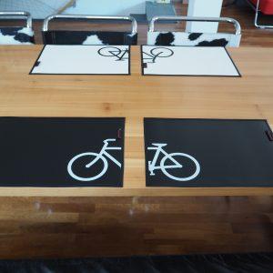 Schwarze Tischsets aus LKW-Plane – 2 Stück