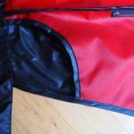 roter Fahrrad Regenschutz